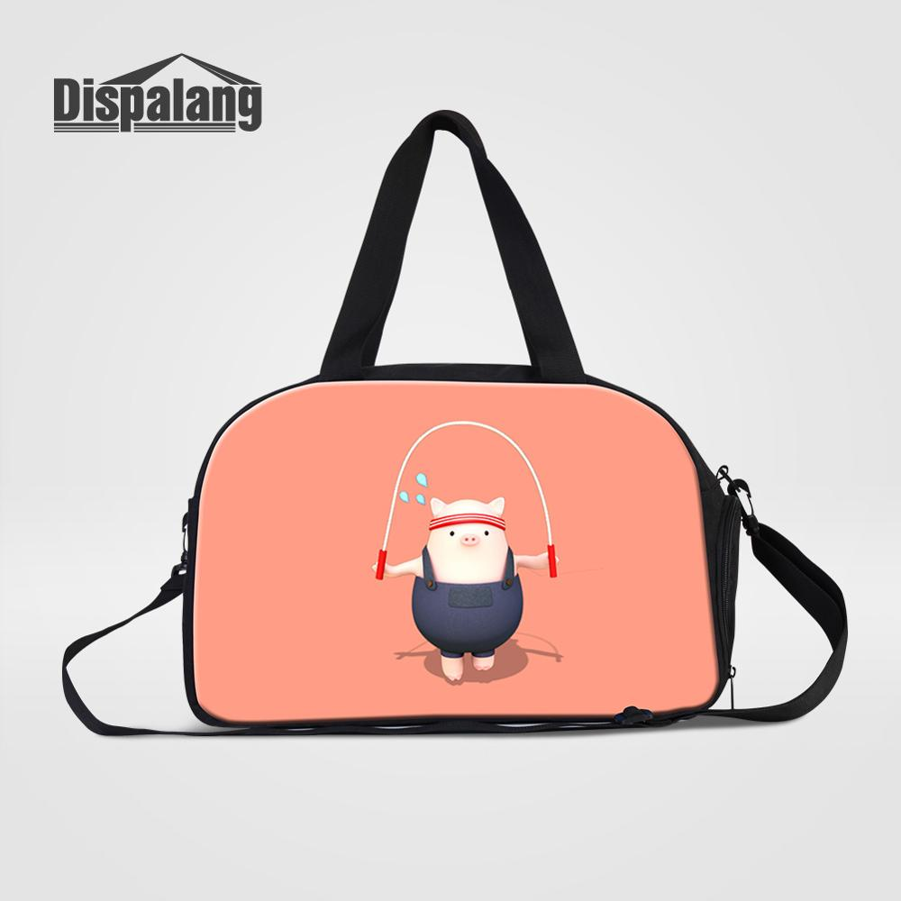Duffle-Bags Shoes Luggage Travel-Handbag Professional Portable Women Cartoon With Pocket