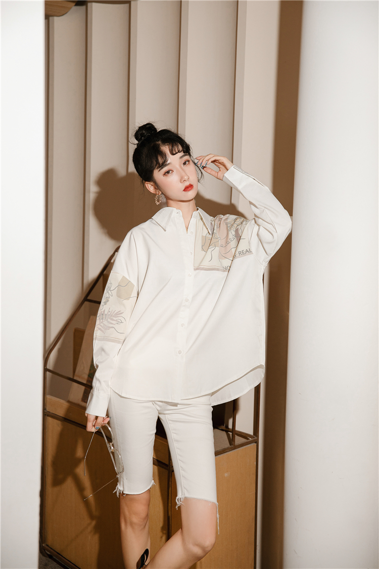 Купить женская блузка cheerart в стиле пэчворк с длинным рукавом осень