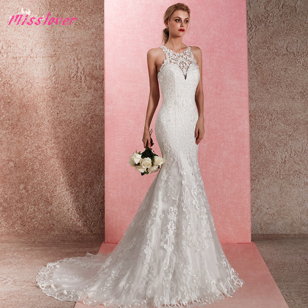 Luxury Vintage Embroidery Silky Tulle Vestido De Noiva Lace Mermaid Bride Wedding Dress Sexy 2019 New Bridal Gown Court Train