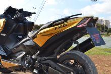 Kit de carenado de motocicleta, plástico ABS cromado, conjunto para Yamaha TMAX 530, 2017 2019, t max 530, 2017, 2018, 2019