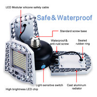 Bombilla LED E27 60W 80W 100W lámpara de garaje E26 lámpara LED 220V luz LED 110V luz Deformable interior aparcamiento iluminación Industrial 2835