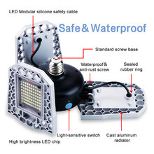 E27 LED Bulb 60W 80W 100W Garage Lamp E26 220V Light 110V Deformable Indoor Parking Industrial Lighting 2835