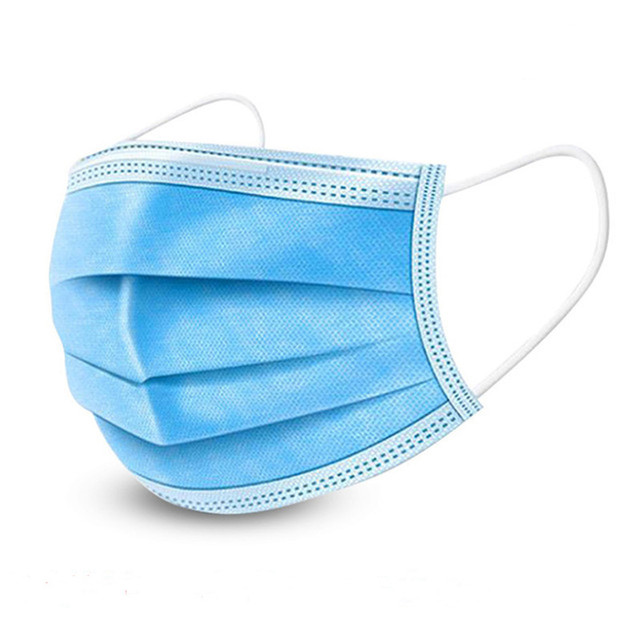 DHL 50/100PCS Fast Delivery! High Quality Non Woven Disposable Face Mask 3 Layers  Face Masks Ear loop Mouth Mask 2