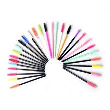 Gel de silicone descartável cílios escova pente rímel varinhas olho cílios extensão ferramenta profissional beleza maquiagem ferramenta para mulher