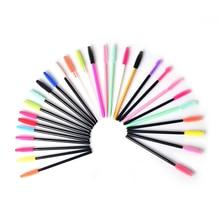 Tek kullanımlık silikon jel kirpik fırçası tarak maskara fırçaları göz Lashes uzatma aracı profesyonel güzellik makyaj aracı kadınlar için