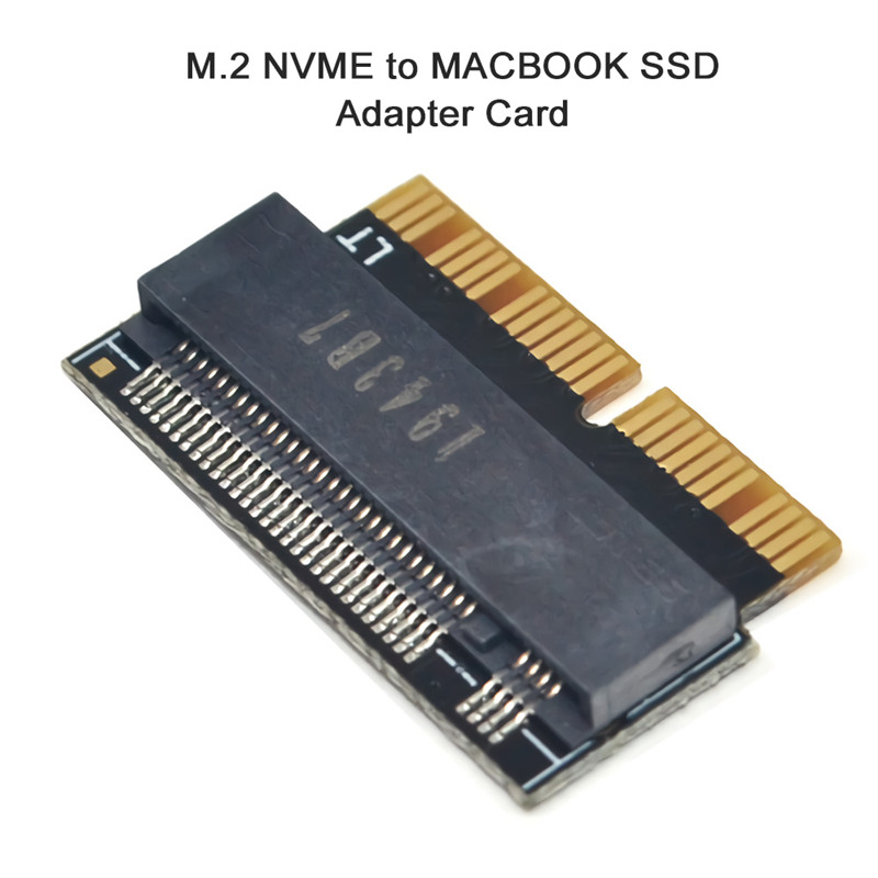 Nvme PCIe M.2 To SSD Adapter Card Expansion Card For Apple Macbook Air 2013-2017 A1398 1466 1465 Laptop SSD Adapter Riser Card