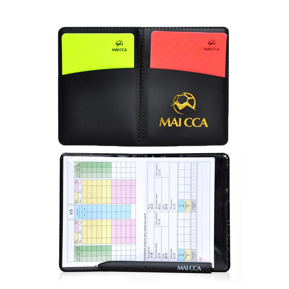 Football Red And Yellow Cards Record Red Card Yellow Card Referee Tool Equipment With Leather Case And Ballpoint Pen