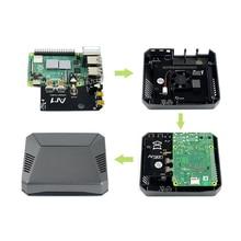 Waveshare הגונה אלומיניום מקרה עבור פטל Pi 4, עם בטוח כוח כפתור ושני PCB לוחות כדי פשוט לבנות אותו