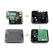 Waveshare um caso de alumínio decente para raspberry pi 4, com botão de energia segura e duas placas pcb para simplesmente construí lo