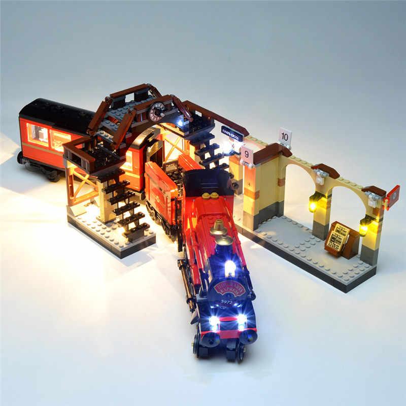 USB HA CONDOTTO LA Luce Stazione di Harri Express Train Figure Building Blocks Giocattoli Compatibile Con Il 75955 del Commercio All'ingrosso Dropshipping