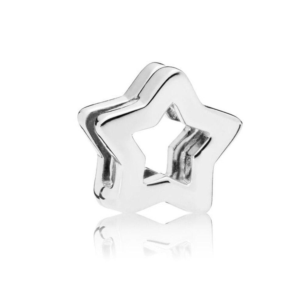 FEOLEO натуральная 925 пробы Серебряная скобка, очаровательные, подходят к оригиналу Pandora браслетов reflexions для Для женщин розового золота Цвет ювелирные изделия - Окраска металла: PAX016-A