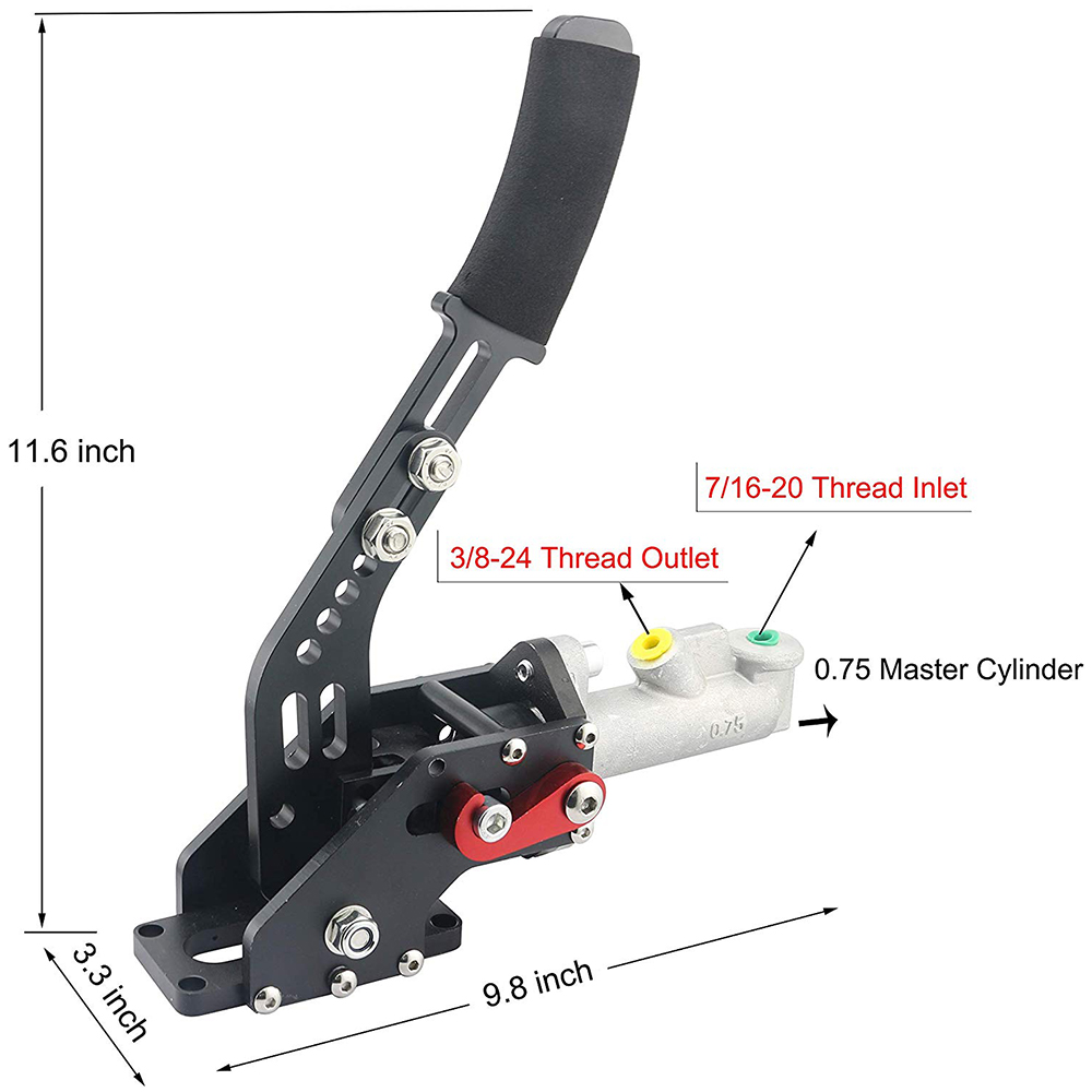 Hydraulic Horizontal Drift Rally E-Brake Racing Handbrake Lever Parking Black