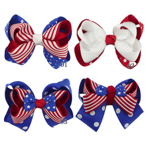 Hair Accessories For Girls Hairclip Fashion Kids Toddler Infant Print 4th Of July Hairpin Hair Clip Delicate Accessories