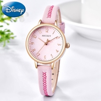 Pink Student Cute Mickey Girl Watch Women Fashion Casual Japan Quartz High Quality Genuine Disney Clock Student Hour Daily Time