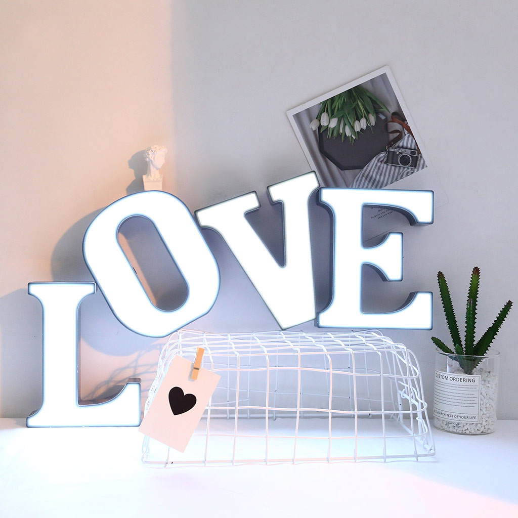 LED Letter Light 2019 Creative LED Letter Lights Night Light Plastic English Letters Light Lamp A To Z Decor Drop Shipping #1982