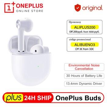 Перейти на Алиэкспресс и купить 24H корабль OnePlus Buds TWS беспроводные Bluetooth 5 Наушники экологическое Шумоподавление для Oneplus 7t 8 Pro Nord VS Bullets 2