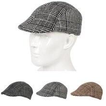 Кепка кепка газетчика для мужчин и женщин теплая твидовая восьмиугольная