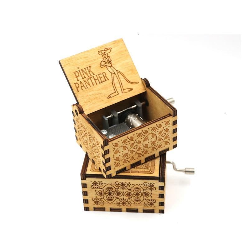 Старинная Музыкальная шкатулка с ручной резьбой по дереву в качестве подарка на день рождения и Рождество для вас и ваших друзей - Цвет: 5