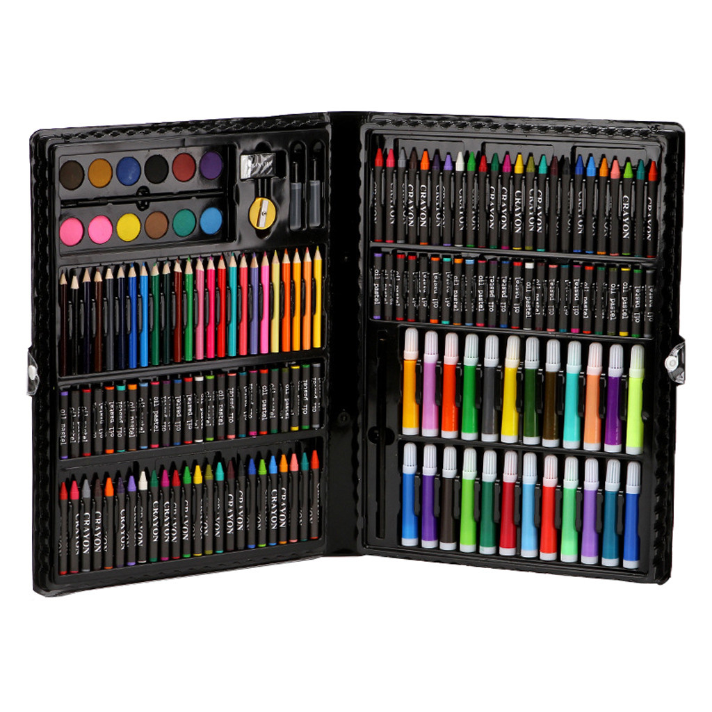 168 Piece/set Deluxe Art Set Art Supplies For Kids Student Drawing Painting School Office Stationary Art Tool