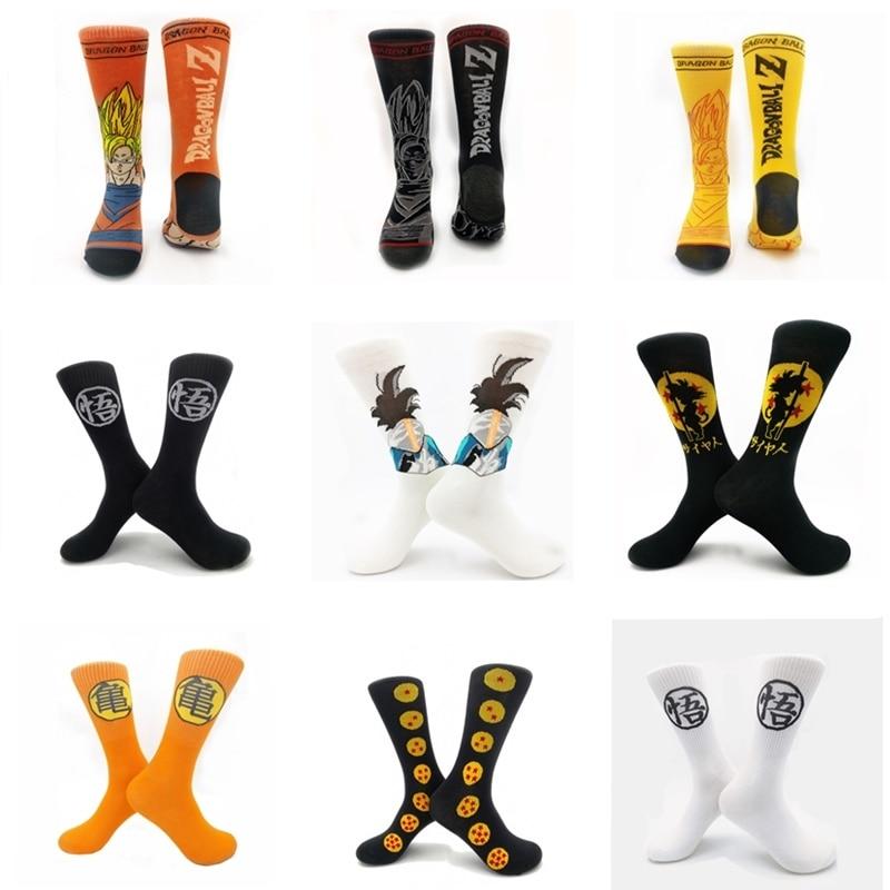 Dragon Ball Cartoon Socks Fashion Japanese Harajuku Street Hip Hop Sock Unisex Skateboard Socks Cosplay Anime Gohan Goku Sock