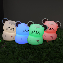 silicone led lamp Night light Touch Sensor lamp silicone cat lamp baby motion lamp led mood light lamp gift For baby kids