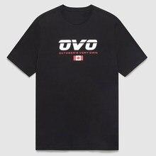 Drake ovo bandeira canadense primavera e verão camisetas de manga curta rapper impresso hip-hop camisas para homem e mulher