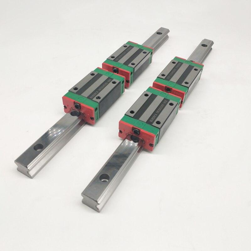 2 шт. HGR25 HGH25 линейные направляющие с квадратным сечением направляющие + 4 шт. горки блок коляски HGH25CA/flang HGW25CC чпу комплектующие
