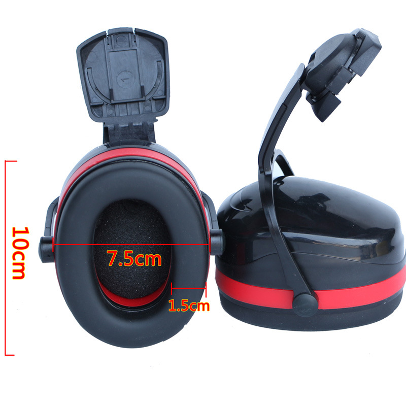 Earmuffs With Safety Helmet, Sound Insulation, Noise Reduction, Protection, Earmuffs, Bags, Labor Insurance Headphones, Study Ea