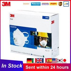 3M FFP2 masque Aura 9324 9324CN masques avec bandeau de Valve réutilisable KN95 masque emballage individuel 3M Original respirateur 9324CN +
