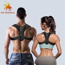 Não. onepaul ajustável clavícula postura corrector men woemen superior volta cinta ombro lombar cinto de apoio espartilho dropshipping