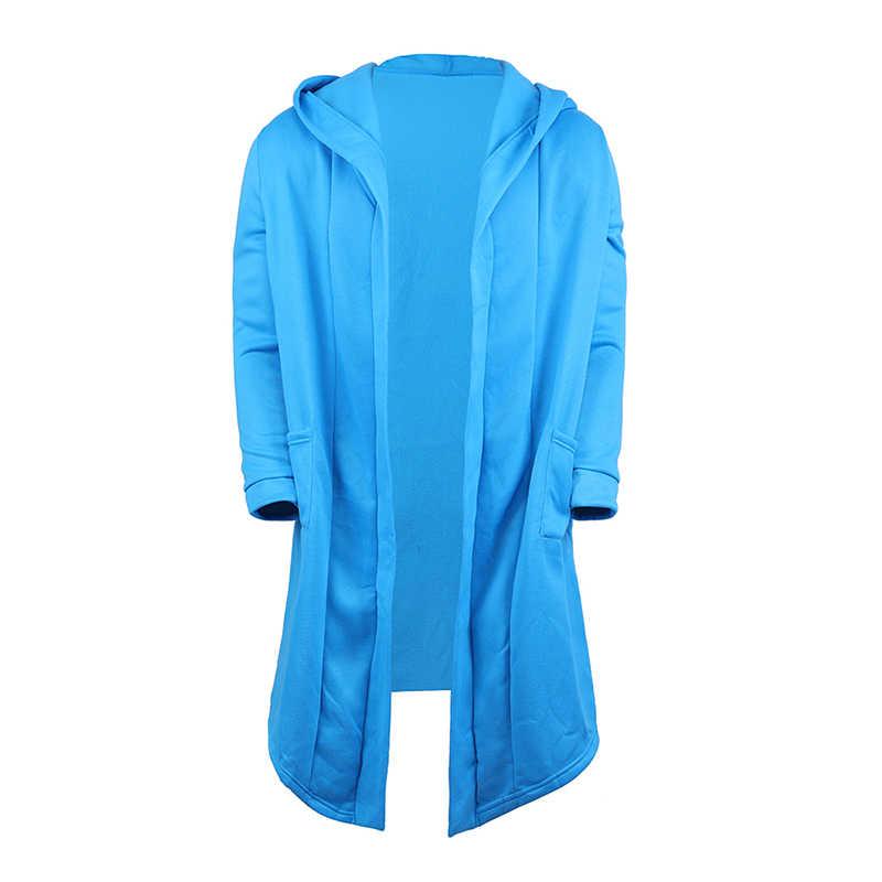 Litthing 2019 sudaderas con capucha para hombre negro Hip Hop Mantle Hoodies chaqueta de moda manto de mangas largas abrigos para hombre prendas de vestir gran oferta