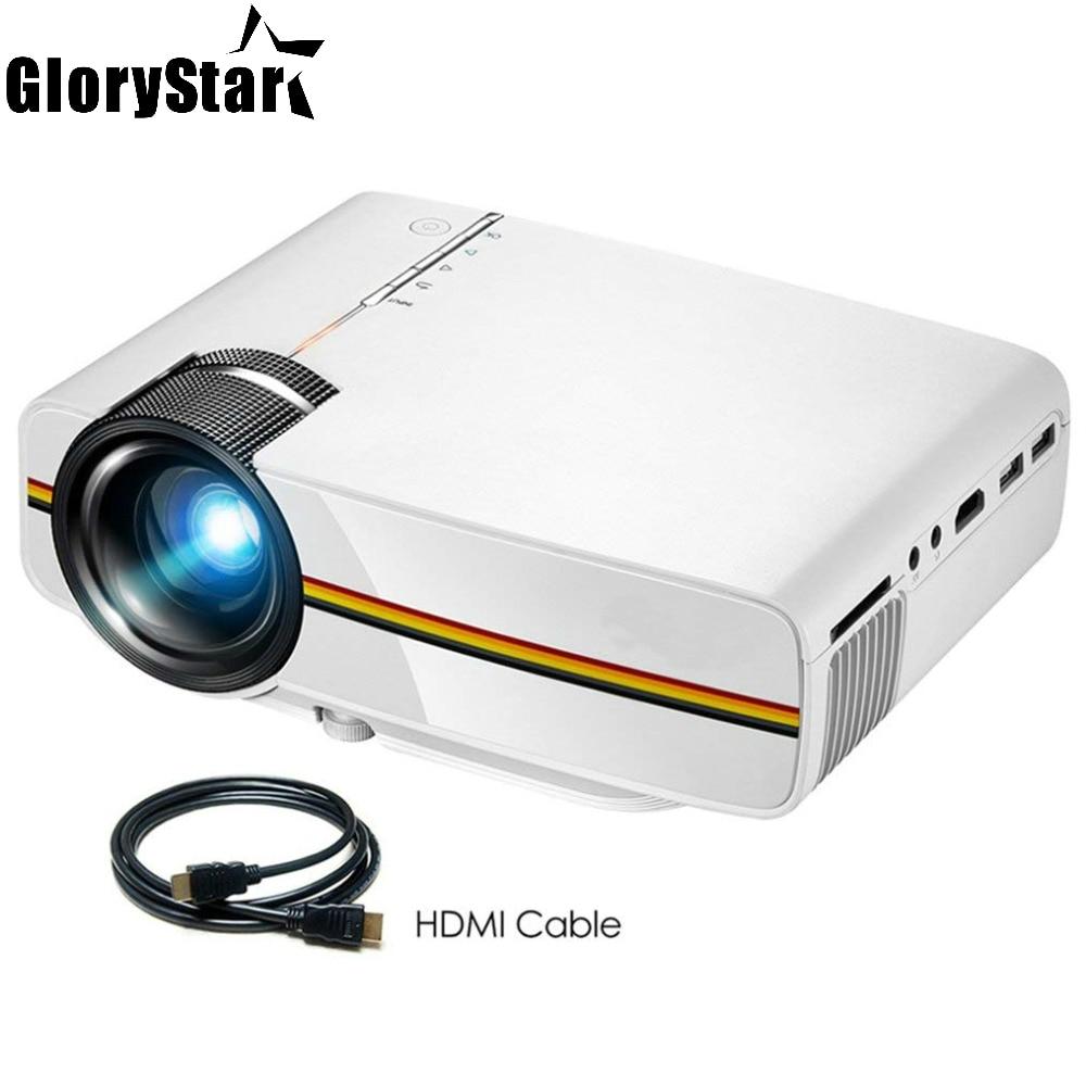 ЖК-проектор YG400, 1080P, для домашнего кинотеатра, видеоигр, проектор для телевизора, 1000 люмен, портативный мини-проектор для фильмов с HDMI, VGA