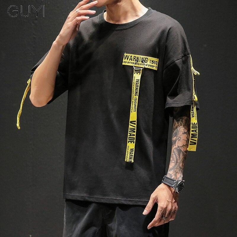 OFF WHITE Round Nneck Letter T-Shirt Unisex T shirt Short Sleeve Black White