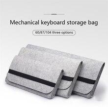 Механическая клавиатура для хранения чехол для защиты от пыли черный, Белый цвет 60 клавиш 87 клавиш клавиатура аксессуары для планшетных ноу...