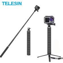 TELESIN 90cm Einbeinstativ Carbon Faser Selfie Stick Aluminium Legierung Stativ Für GoPro Hero 9 8 7 Für Osmo Action insta360 Zubehör