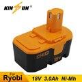 KINSUN сменная батарея для электроинструмента 18В 3.0Ah Ni-MH Аккумуляторная дрель ryobi BPP-1813 BPP-1815 BPP-1817 BPP-1820 BID-180L