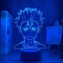 3d лампа аниме haikyuu nishinoya yuu фигурка для детей декор
