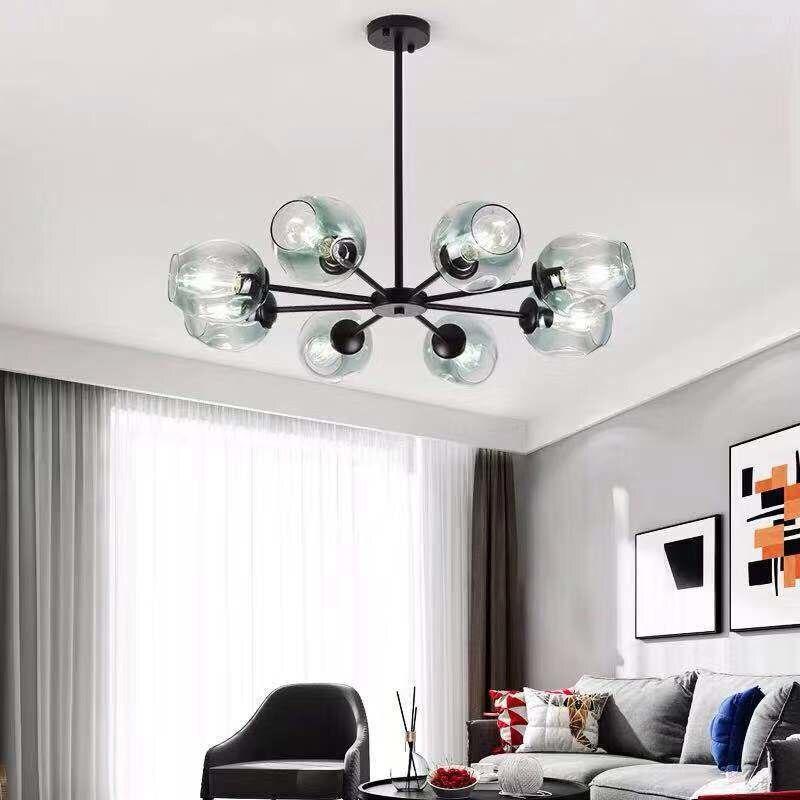 Nordic magic bean glass chandelier E27 indoor lighting modern clothing store decorative lighting bedroom dining room living room|Chandeliers| |  - title=