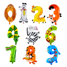 16inch Animals Number Foil Balloons Digi