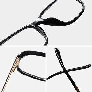Image 5 - Optik reçete gözlük çerçevesi erkekler açık miyopi gözlük çerçevesi erkek şeffaf gözlük çerçevesi alaşım Tr90 gözlük marka