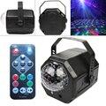 RGB светодиодный хрустальный диско магический шар с RG лазерным проектором DJ вечерние праздничные бар сценический эффект с голосовым управле...