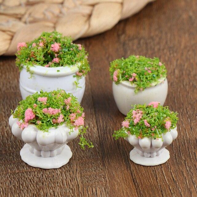 2PCS 1:12 Miniature Green Plants Decoration Dollhouse Furniture AccessoriesRS