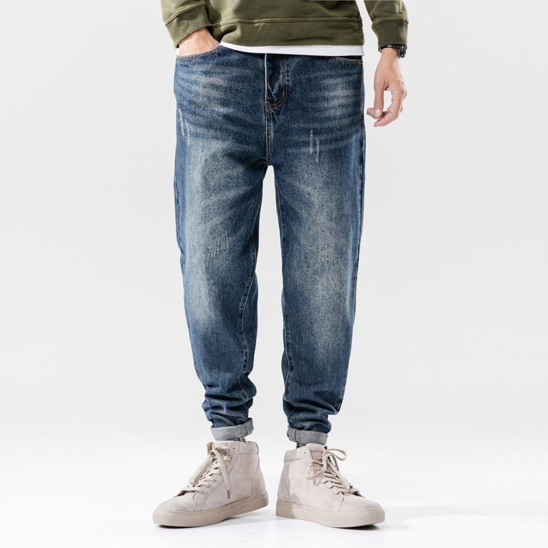 Italian Designer Men Jeans Fashion Streetwear Blue Color Slim Fit Buttons Classical Jeans Brand Jeans Men Pants