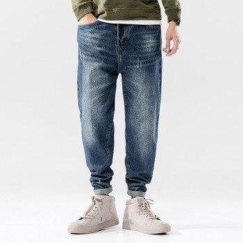 Italian Designer Men Jeans Fashion Streetwear Blue Color Slim Fit Buttons Classical Jeans Brand Jeans Men Pants fashion designer men jeans blue 100