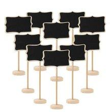 Party-Decor Blackboard Table Message Wedding Mini Write Wood No 10pcs Information