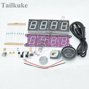 Scaricabile Suoneria Intelligente-Luce controllata Orologio Elettronico Kit FAI DA TE Che Fanno Parti DS3231 L'ora Esatta