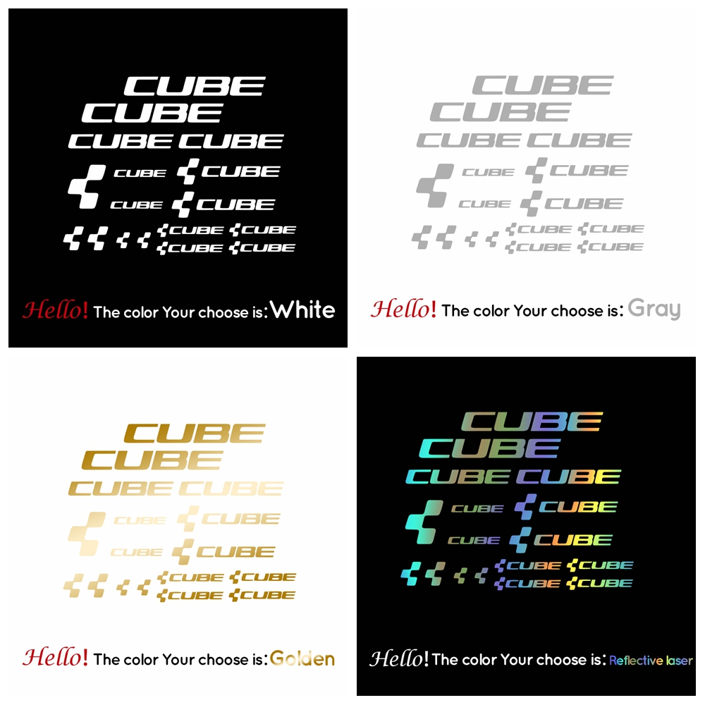 Racing Cycling Reflective Decals Kits Vinyls Bike Art Decor CUBE Bicycle Frame Stickers Decals Cycling DIY Stickers Decoration