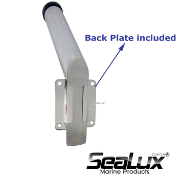 Sealux Marine Grade Stainless Steel 304 Removable Rod Holder with PVC Liner for Marine Boat Yacht sealux removable flag pole marine grade 304 stainless steel flag staff for boat yacht camper rv