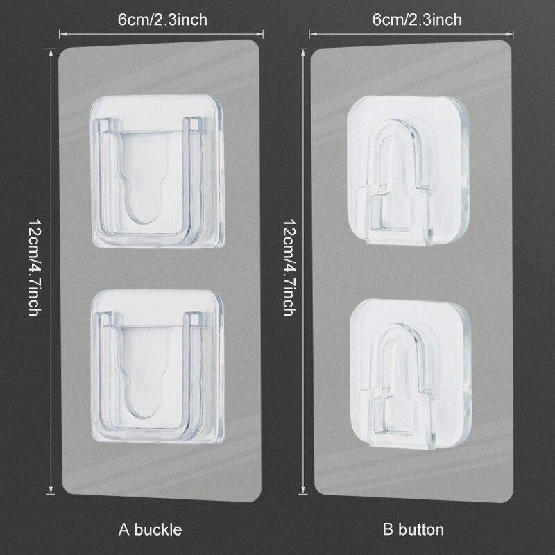 5 шт универсальные двухсторонние клейкие настенные крючки держатель