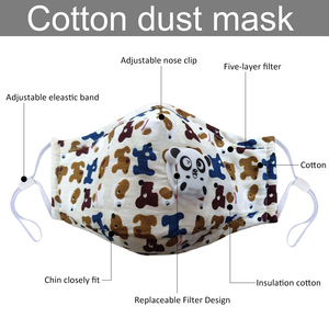 Image 5 - 6pcs Cartoon Children PM2.5 Mouth Mask Kids Breath Valve Anti Haze Breathable Mask Anti Dust Mouth Muffle Respirator Face Masks